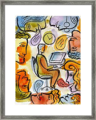 My Office Framed Print by Leon Zernitsky