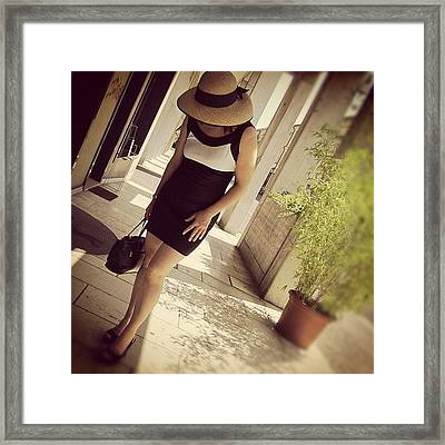 My Old Twitter Avi...me In Venice/italy Framed Print by Marianna Mills