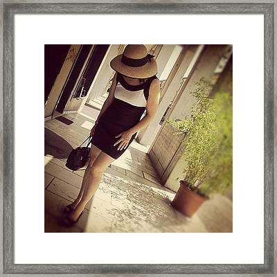 My Old Twitter Avi...me In Venice/italy Framed Print