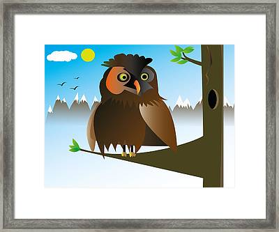 My Owl Framed Print by Kenneth Feliciano