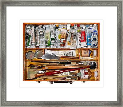 My Paint Box Framed Print by Val Miller