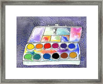 My Paintbox Framed Print