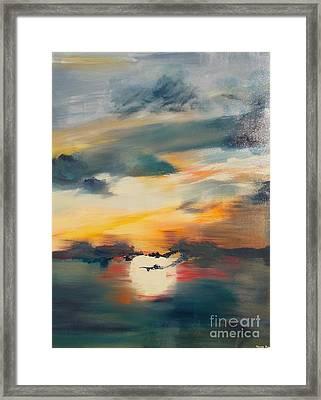 My Paradise Sunrise Framed Print by PainterArtist FIN