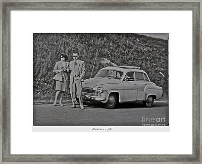 My Parents Were Awesome .  Days Gone By Good Goin.1963. Photographer Andrzej Goszcz. Framed Print by  Andrzej Goszcz