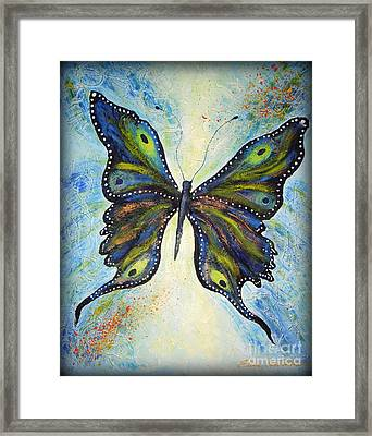 My Peacock Butterfly Framed Print