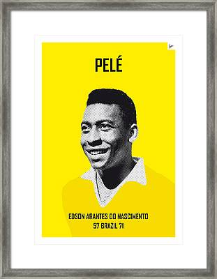 My Pele Soccer Legend Poster Framed Print by Chungkong Art
