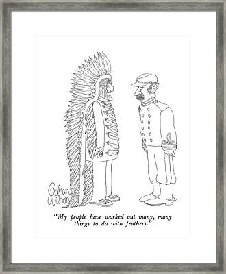 My People Have Worked Out Many Framed Print by Gahan Wilson