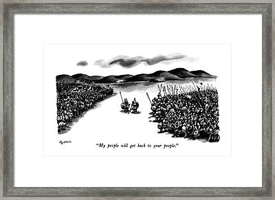 My People Will Get Back To Your People Framed Print by Eldon Dedini