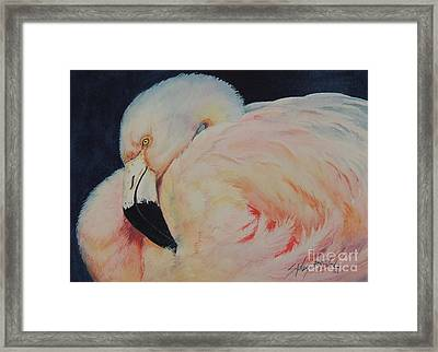 My Pink Flamingo...sold  Framed Print