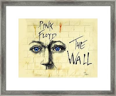 My Pink Floyd Wall Framed Print by Todd Spaur