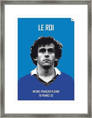 My Platini Soccer Legend Poster Framed Print