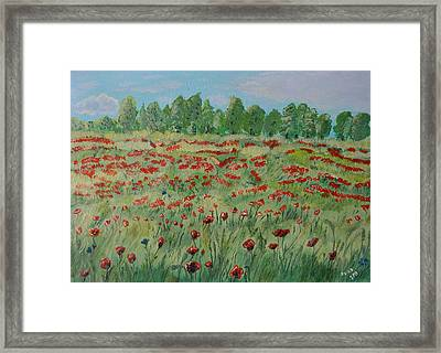 My Poppies Field Framed Print