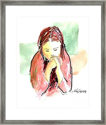 My Prayer Framed Print by John  Svenson