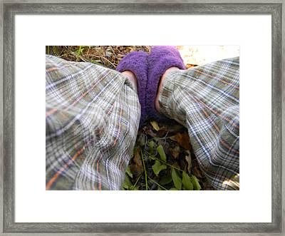 My Purple Slippers Framed Print by Christy Usilton