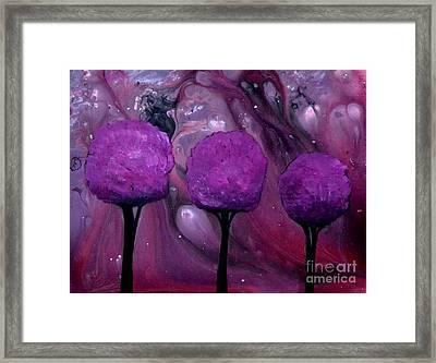 My Purple World By Saribelle Rodriguez Framed Print by Saribelle Rodriguez