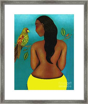My Queendom For Your Song Framed Print by Mucha Kachidza