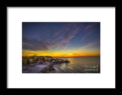Jacksonville Beach Framed Prints