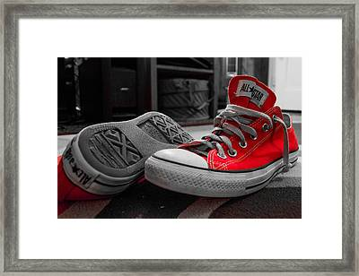 My Red All Stars Framed Print