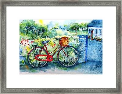 My Red Bicycle Framed Print by Trudi Doyle