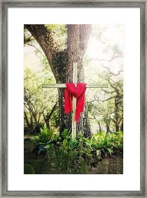 My Redeemer Lives Framed Print by Sennie Pierson