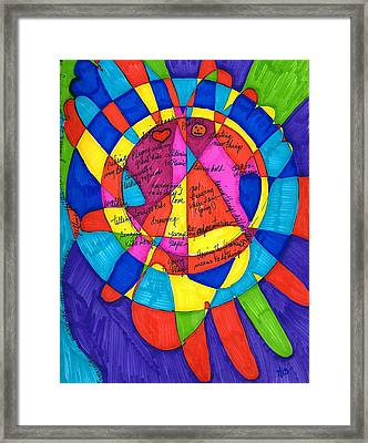 My Right Foot And Hand Framed Print