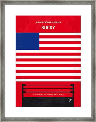 My Rocky Minimal Movie Poster Framed Print by Chungkong Art