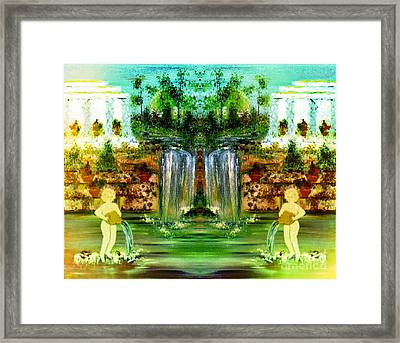 Framed Print featuring the painting My Rome by Denise Tomasura