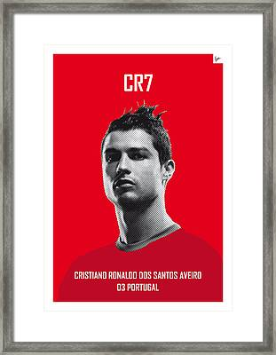 My Ronaldo Soccer Legend Poster Framed Print by Chungkong Art