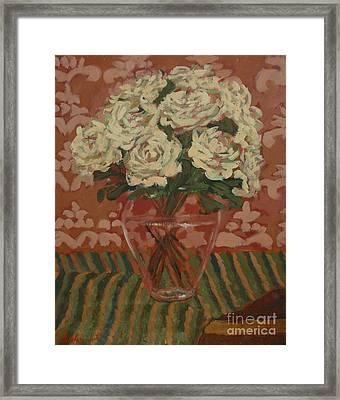 My Roses Framed Print by Monica Caballero