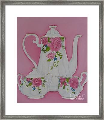 My Royal Doulton  English Rose Teaware Framed Print