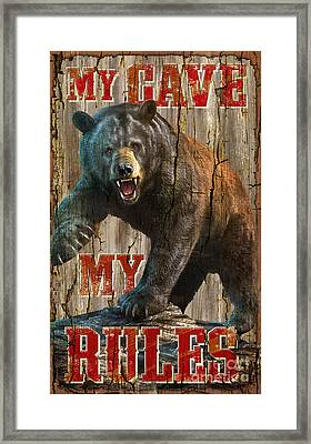 My Rules Framed Print by JQ Licensing Jeff wack