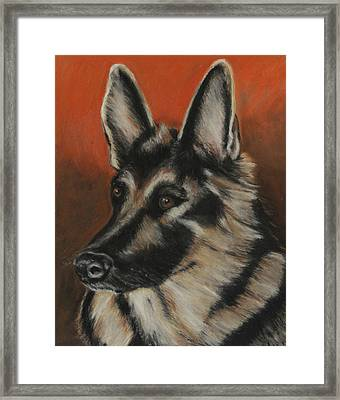 Framed Print featuring the painting My Sadie by Jeanne Fischer