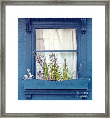 My San Francisco Window Garden Framed Print by Artist and Photographer Laura Wrede