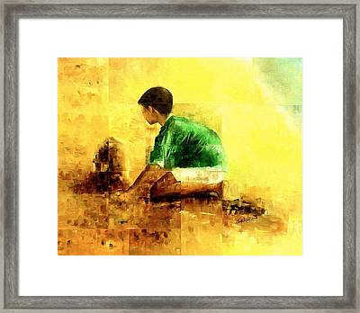 My Sand Castle Framed Print by Laurend Doumba