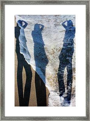 My Shadow Follows Me Framed Print