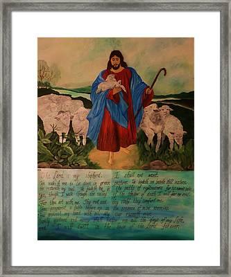 My Shepherd Framed Print by Christy Saunders Church