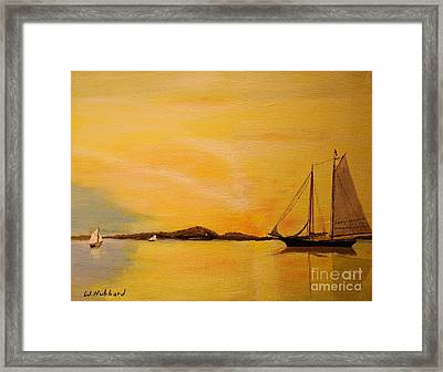 My Ship Lies Awaiting In The Harbor Framed Print by Bill Hubbard