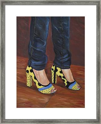 My Shoes Framed Print