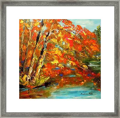 My Side Of The River Framed Print by Barbara Pirkle