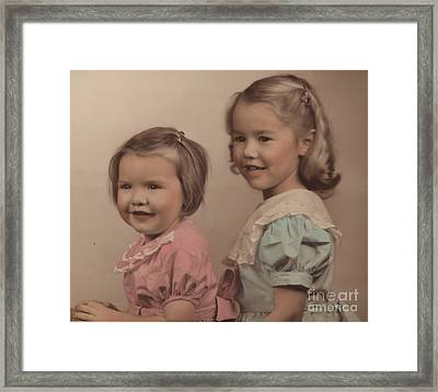 My Sister And I Framed Print by Kathleen Struckle