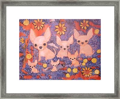 My Six Loves Framed Print by Rachel Carmichael