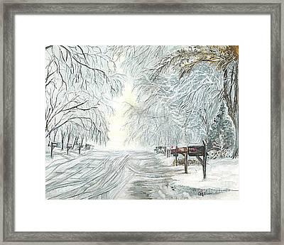 My Slippery Street  Framed Print by Carol Wisniewski