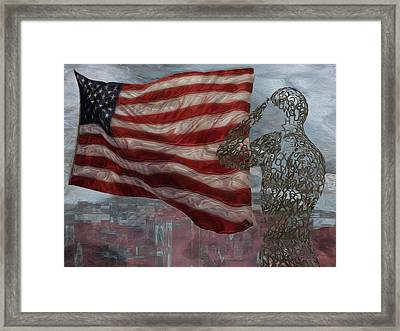My Salute To The Unknown Framed Print