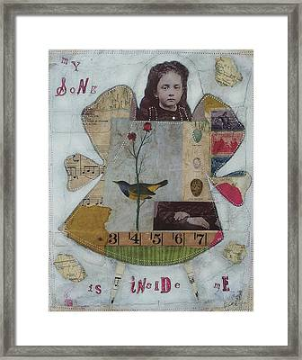 Framed Print featuring the painting My Song Is Inside Me by Casey Rasmussen White