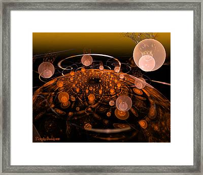 My Soul In The Quantum Fields. 2013 80/64 Cm.  Framed Print by Tautvydas Davainis