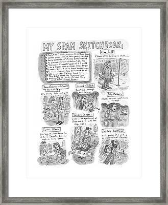 My Spam Sketchbook Framed Print