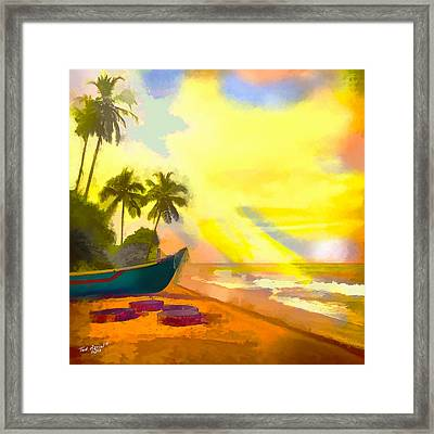 My Special Island Framed Print by Ted Azriel