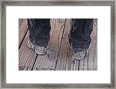 My Spurs Go Jingle Jangle Framed Print