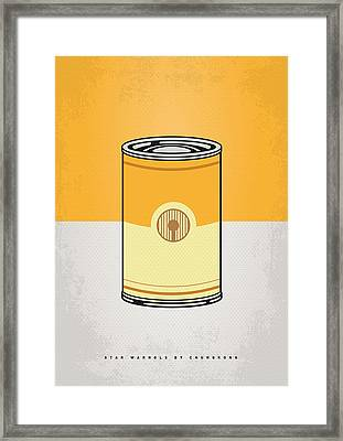 My Star Warhols 3cpo Minimal Can Poster Framed Print