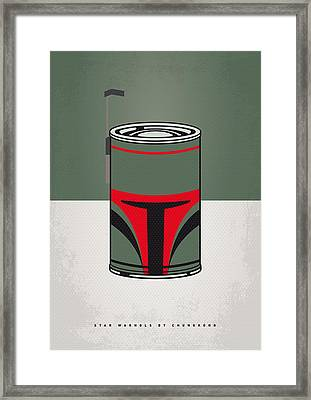 My Star Warhols Boba Fett Minimal Can Poster Framed Print by Chungkong Art